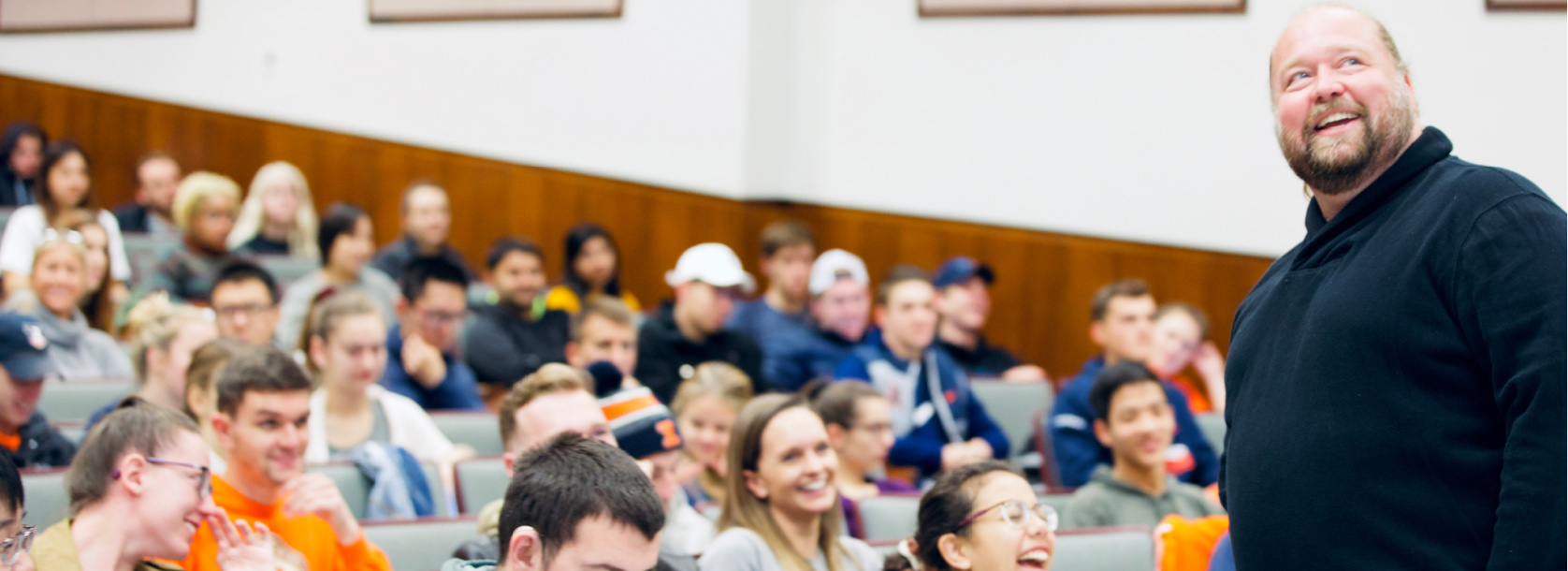 BADM Marketing Header - students attending a lecture