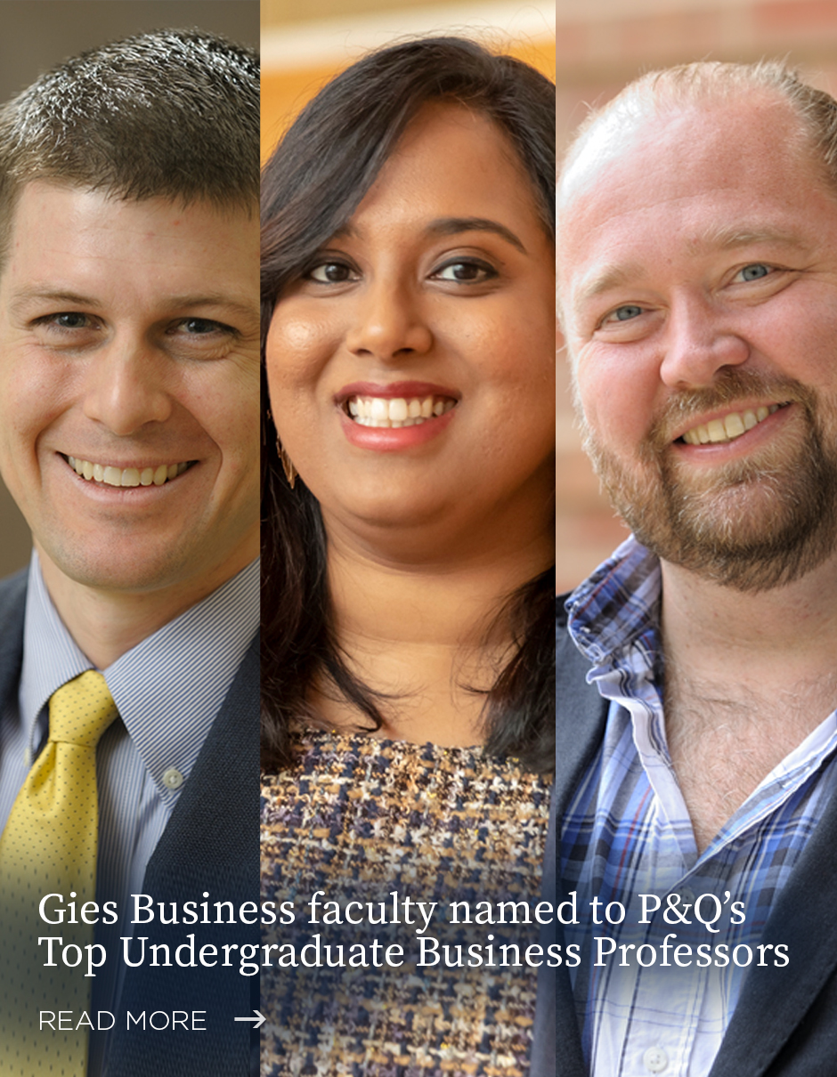 Gies Business faculty named P&Q Top Undergrad Faculty