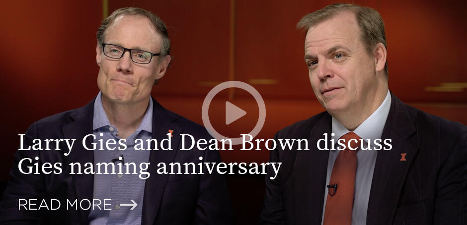 Larry Gies and Dean Brown discuss naming anniversary (video)