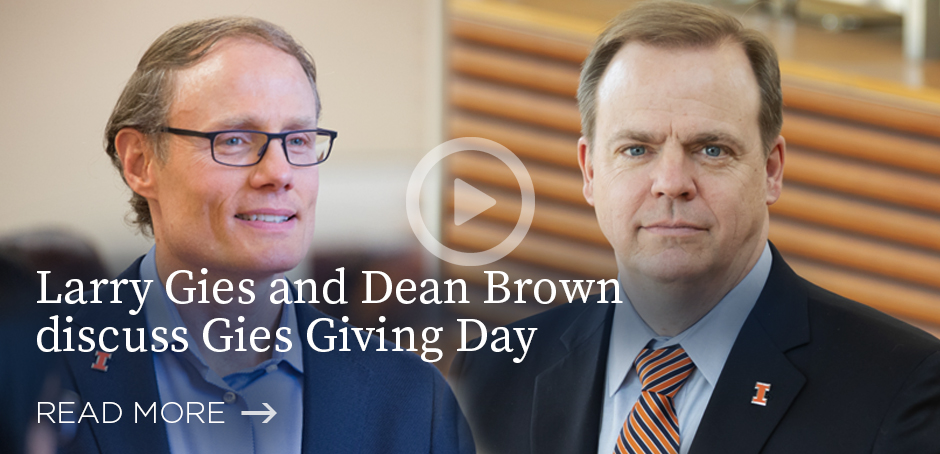 Larry Gies and Dean Brown discuss Gies Giving Day (video)